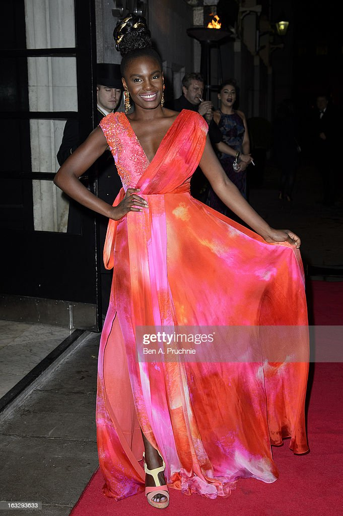 Shingai Shoniwa attends the Helping Hands VIP fundraising dinner in aid of WellChild at The Savoy Hotel on March 7, 2013 in London, England.