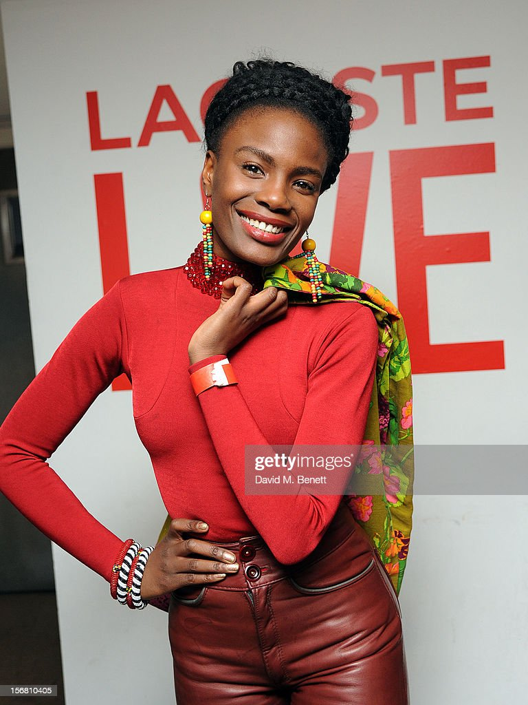 Shingai Shoniwa attends the launch of Lacoste L!VE at Shoreditch House on November 21, 2012 in London, England.
