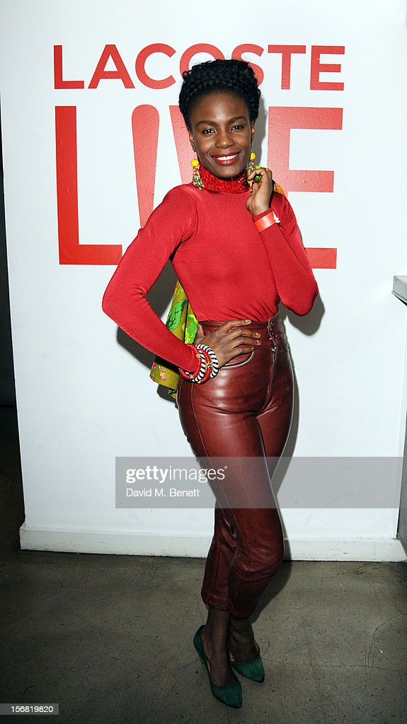 <a gi-track='captionPersonalityLinkClicked' href=/galleries/search?phrase=Shingai+Shoniwa&family=editorial&specificpeople=4266140 ng-click='$event.stopPropagation()'>Shingai Shoniwa</a> attends the launch of Lacoste L!VE at Shoreditch House on November 21, 2012 in London, England.