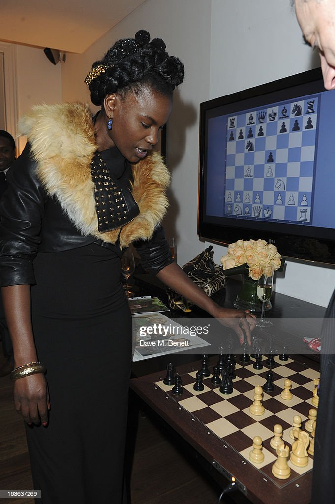 Shingai Shoniwa attends the launch of the 'Urban Chess' Funding Initiative from East Village at Mortons on March 13, 2013 in London England.