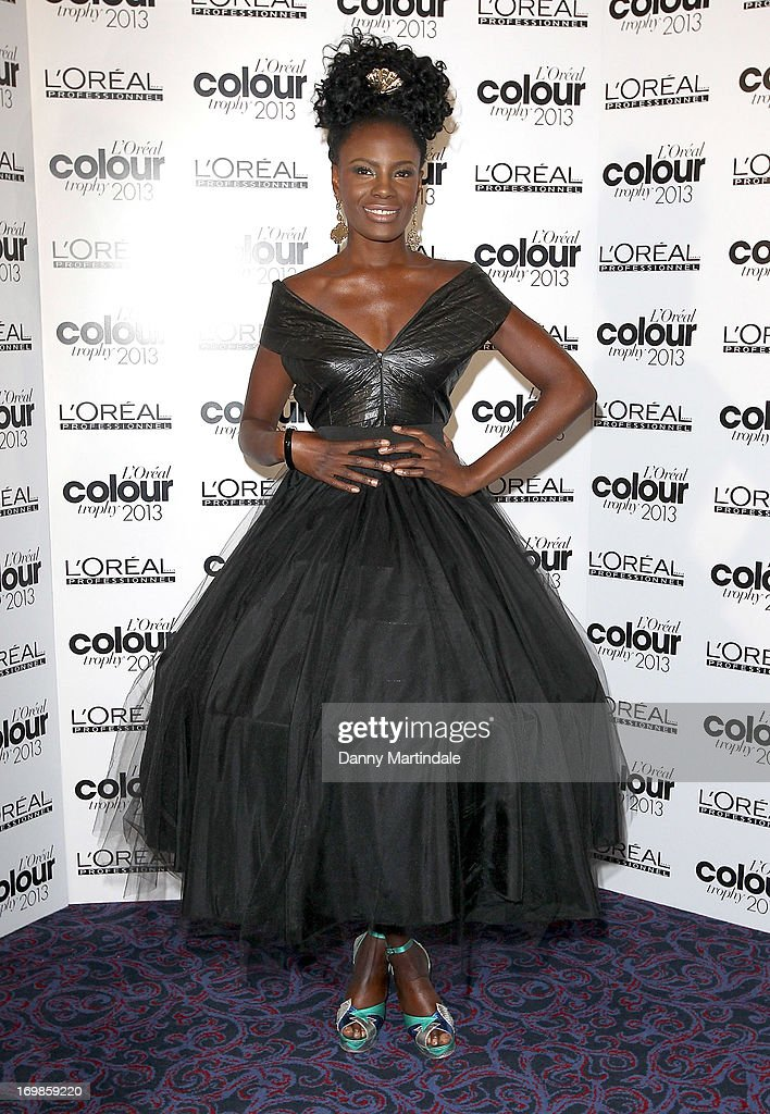 Shingai Shoniwa attends the L'Oreal Colour Trophy Awards 2013 at Grosvenor House, on June 3, 2013 in London, England.