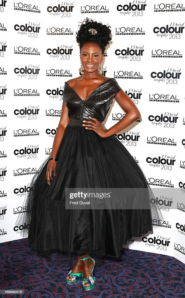 Shingai Shoniwa attends the L'Oreal Colour Trophy Awards at Grosvenor House, on June 3, 2013 in London, England.
