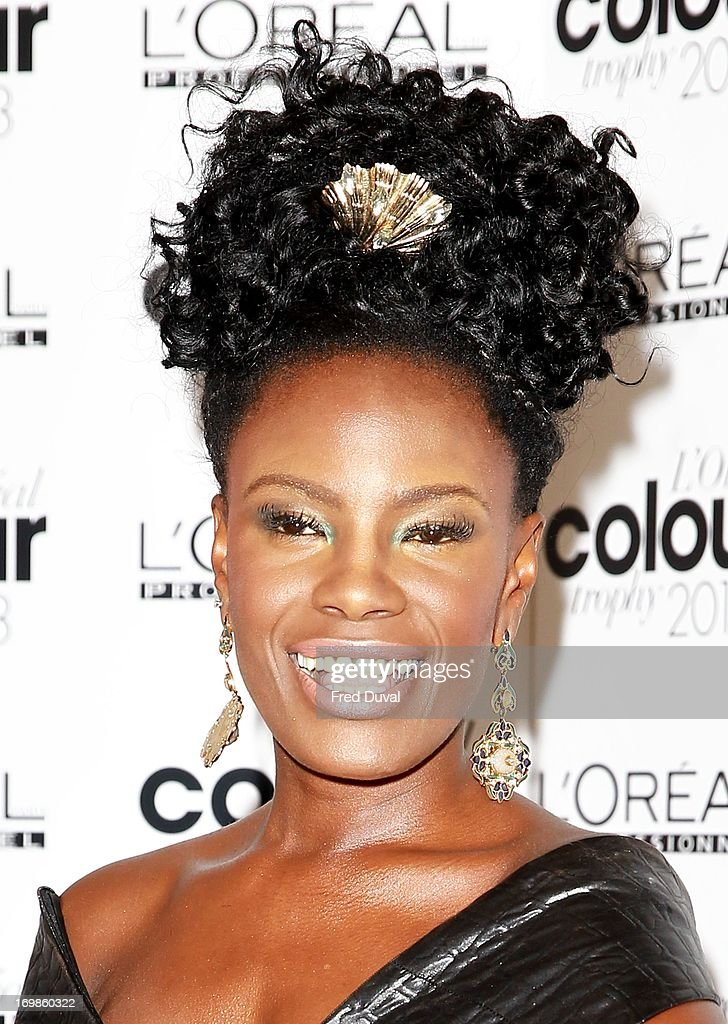 <a gi-track='captionPersonalityLinkClicked' href=/galleries/search?phrase=Shingai+Shoniwa&family=editorial&specificpeople=4266140 ng-click='$event.stopPropagation()'>Shingai Shoniwa</a> attends the L'Oreal Colour Trophy Awards at Grosvenor House, on June 3, 2013 in London, England.