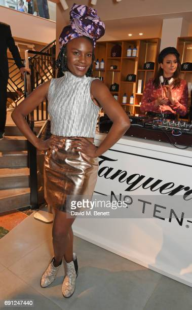Shingai Shoniwa attends the Perfect Ten Exhibition in association with Tanqueray No TEN at Harvey Nichols on June 1 2017 in London England