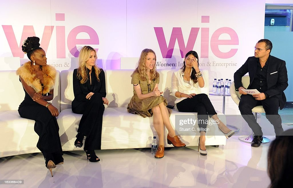 Shingai Shoniwa, Melissa Oderbash and Tamsin Merchant attend the annual WIE Symposium at The Hospital Club on March 8, 2013 in London, England.