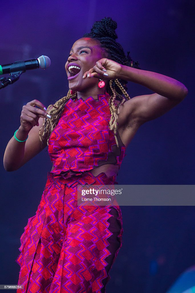 Shingai Shoniwa performs with the British Electric Foundation on day three of Rewind Scotland at Scone Palace on July 24 2016 in Perth Scotland