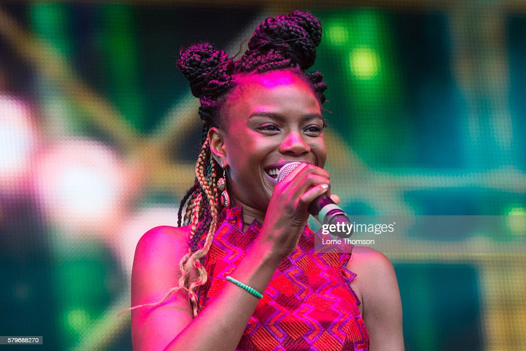 Shingai Shoniwa performs with the British Electronic Foundation on day three of Rewind Scotland at Scone Palace on July 24 2016 in Perth Scotland
