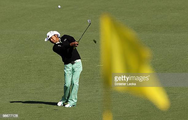 Shingo Katayama during the second round of the 2010 Masters Tournament at Augusta National Golf Club on April 9 2010 in Augusta Georgia