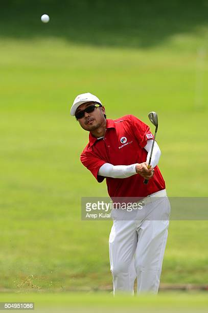 Shingo Katayama o Team Asia in action during the ProAM Tournament ahead of Eurasia Cup 2016 presented by DRBHICOM at Glenmarie GCC on January 14 2016...