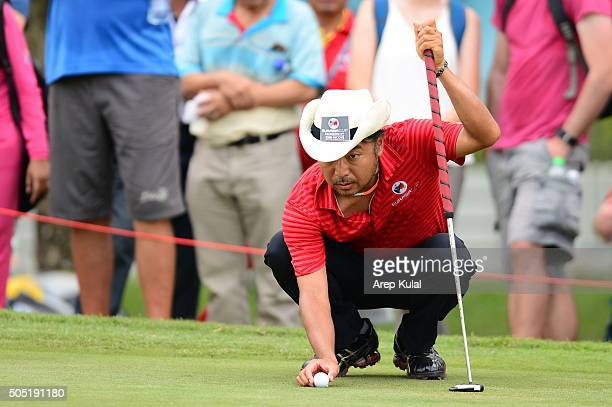 Shingo Katayama of Team Asia pictured during the day two of the EurAsia 2016 presented by DRBHICOM at Glenmarie GCC on January 16 2016 in Kuala...