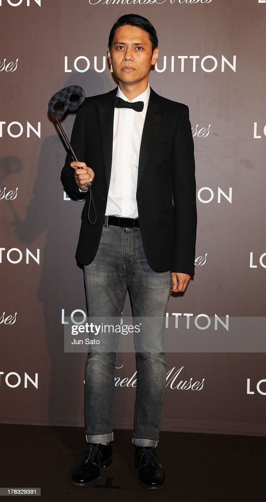 DJ Shinichi Osawa attends Louis Vuitton 'Timeless Muses' exhibition at the Tokyo Station Hotel on August 29, 2013 in Tokyo, Japan.