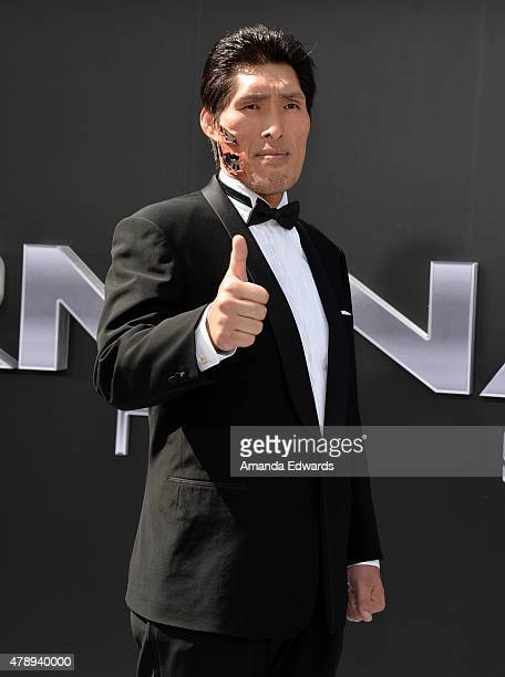 Shinichi Shinohara arrives at the Los Angeles premiere of 'Terminator Genisys' at The Dolby Theatre on June 28 2015 in Hollywood California