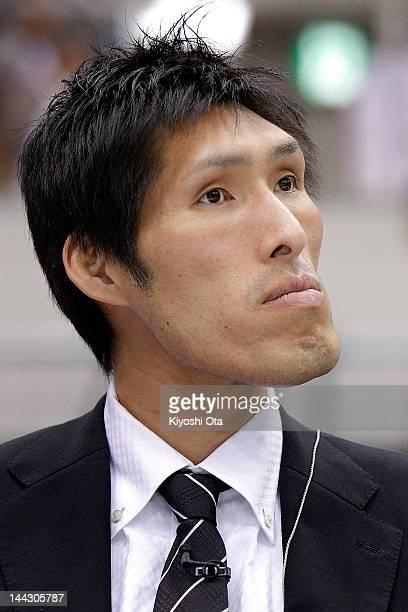 Shinichi Shinohara Japan Men's judo head coach watches a match during day two of the All Japan Judo Weight Class Championships 2012 at Fukuoka...