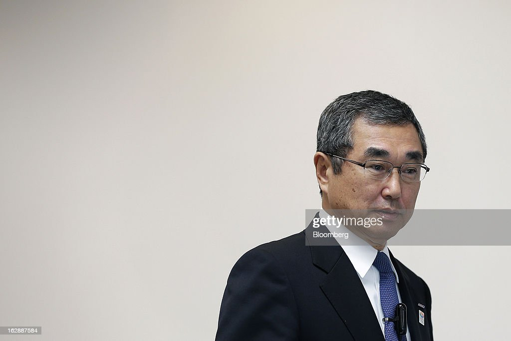 <a gi-track='captionPersonalityLinkClicked' href=/galleries/search?phrase=Shinichiro+Ito&family=editorial&specificpeople=5666038 ng-click='$event.stopPropagation()'>Shinichiro Ito</a>, outgoing president and chief executive officer of All Nippon Airways Co. (ANA) and incoming president and chief executive officer of ANA Holdings Inc., arrives for a news conference at the company's headquarters in Tokyo, Japan, on Friday, March 1, 2013. Ito will also take the role of chairman of All Nippon Airways Co. when ANA Holdings commences April 1. Photographer: Kiyoshi Ota/Bloomberg via Getty Images