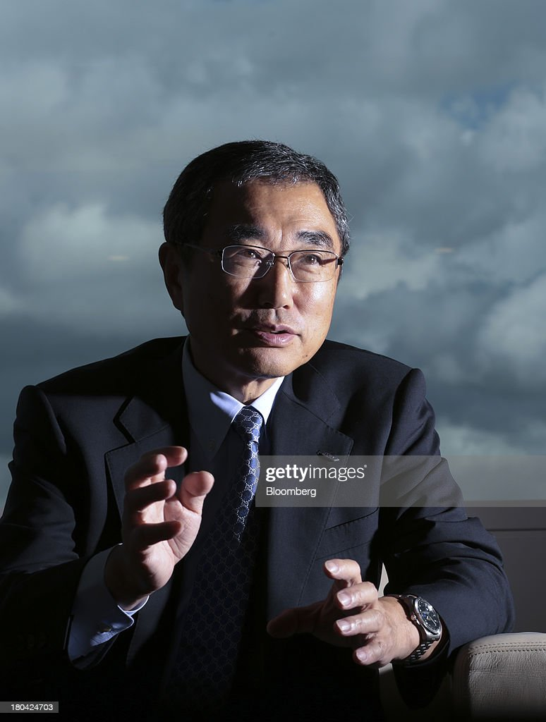 <a gi-track='captionPersonalityLinkClicked' href=/galleries/search?phrase=Shinichiro+Ito&family=editorial&specificpeople=5666038 ng-click='$event.stopPropagation()'>Shinichiro Ito</a>, president and chief executive officer of ANA Holdings Inc. (ANA), speaks during an interview in Tokyo, Japan, on Wednesday, Sept. 4, 2013. ANA Holdings, the Japanese carrier whose fleet is dominated by Boeing Co. aircraft, will decide soon on placing an order for 25 jets, pitting the newest wide-body models of Airbus SAS and Boeing against each other. Photographer: Yuriko Nakao/Bloomberg via Getty Images