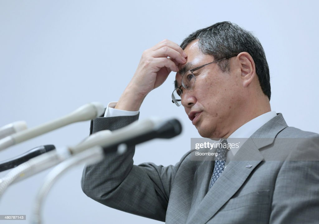 <a gi-track='captionPersonalityLinkClicked' href=/galleries/search?phrase=Shinichiro+Ito&family=editorial&specificpeople=5666038 ng-click='$event.stopPropagation()'>Shinichiro Ito</a>, president and chief executive officer of ANA Holdings Inc., pauses during a news conference at the company's headquarters in Tokyo, Japan, on Thursday, March 27, 2014. ANA, Japan's largest airline, split a 1.7 trillion yen ($16.6 billion) order for new aircraft between Boeing Co. and Airbus Group NV in the biggest purchase in the carrier's history. Photographer: Yuriko Nakao/Bloomberg via Getty Images