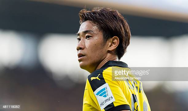 Shinji Kagawa of Borussia Dortmund during the preseason friendly match between VfL Bochum v Borussia Dortmund at Rewirpower Stadium on July 17 2015...