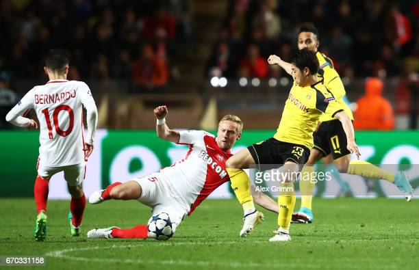 Shinji Kagawa of Borussia Dortmund during the UEFA Champions League Quarter Final second leg match between AS Monaco and Borussia Dortmund at Stade...
