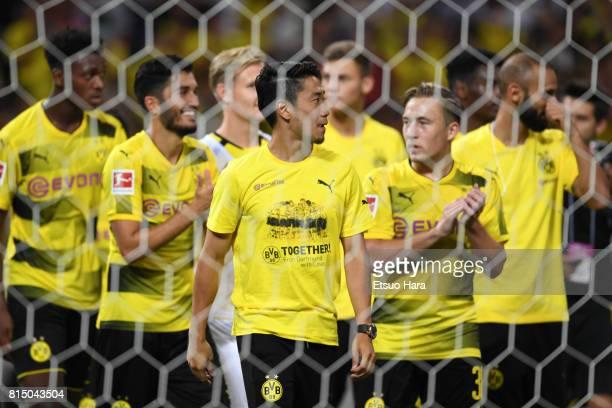 Shinji Kagawa of Burussia Dortmund is seen after the preseason friendly match between Urawa Red Diamonds and Borussia Dortmund at Saitama Stadium on...