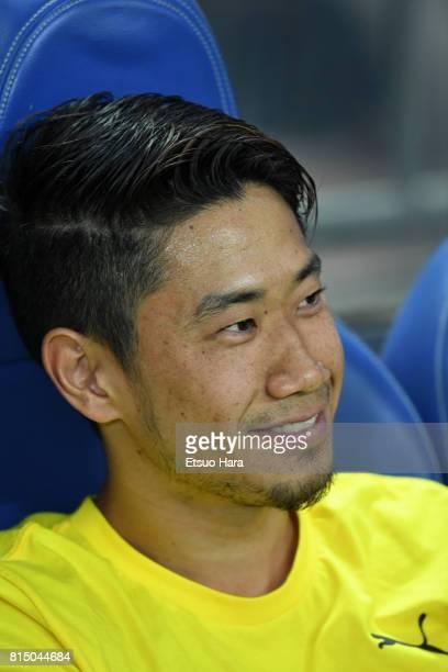 Shinji Kagawa of Burussia Dortmund looks on prior to the preseason friendly match between Urawa Red Diamonds and Borussia Dortmund at Saitama Stadium...