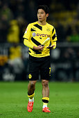 Shinji Kagawa of Dortmund is seen during the Bundesliga match between Borussia Dortmund and FC Bayern Muenchen at Signal Iduna Park on April 4 2015...