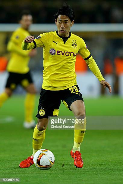 Shinji Kagawa of Dortmund runs with the ball during the UEFA Europa League group C match between Borussia Dortmund and PAOK FC at Signal Iduna Park...