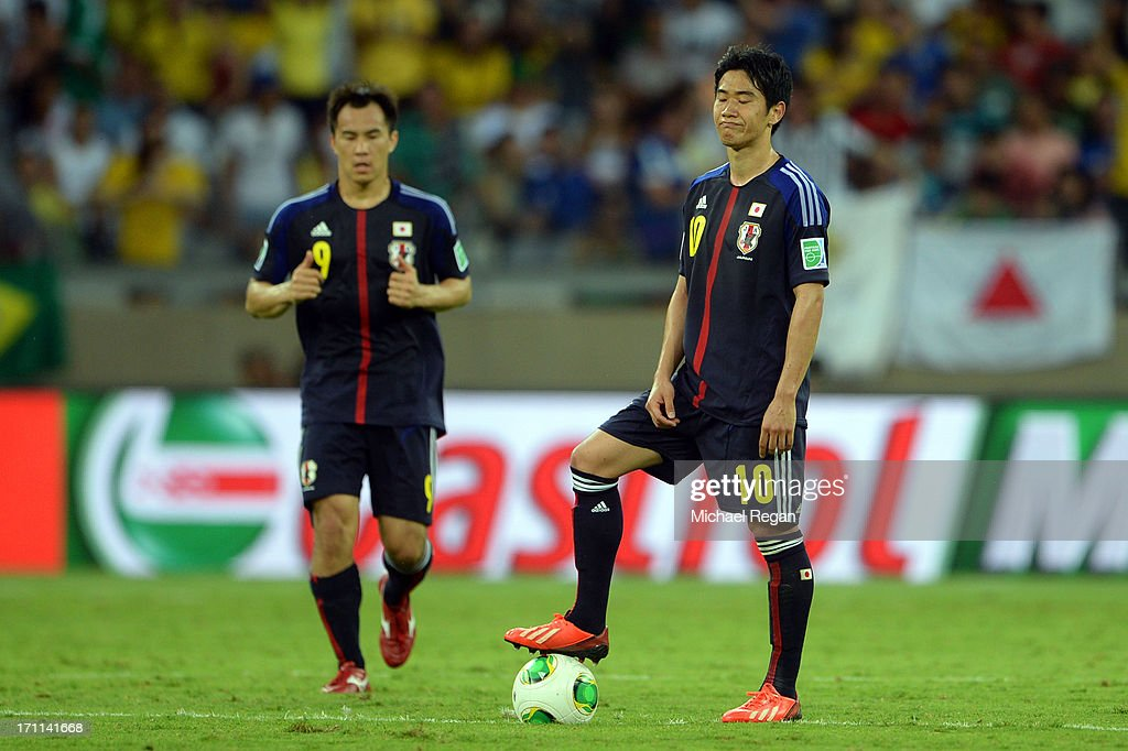 Shinji Kagawa of Japan looks on against Mexico during the FIFA Confederations Cup Brazil 2013 Group A match between Japan and Mexico at Estadio Mineirao on June 22, 2013 in Belo Horizonte, Brazil.