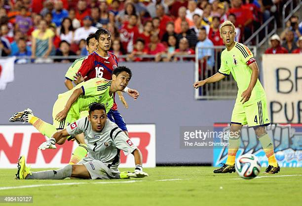 Shinji Kagawa of Japan scores his team's second goal during the International Friendly Match between Japan and Costa Rica at Raymond James Stadium on...