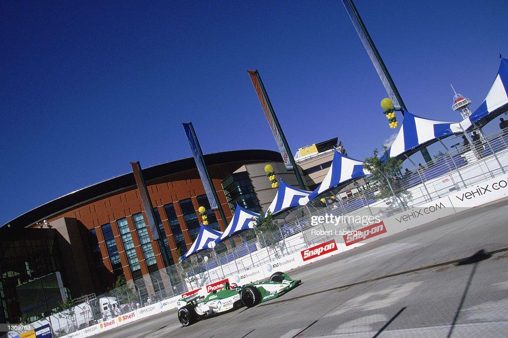 Shinji Nakano #52 of Japan drives his Fernandez Racing Honda Lola during the Grand Prix of Denver, round 14 of the CART Fed Ex Championship Series on September 1, 2002 in Denver, Colorado.
