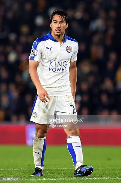 Shinji Okazaki of Leicester City during the Capital One Cup Fourth Round match between Hull City and Leicester City at KC Stadium on October 27 2015...