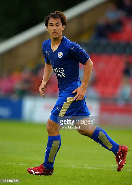 Shinji Okazaki of Leicester City during the Pre Season Friendlly match between Lincoln City and Leicester City at Sincil Bank Stadium on July 21 2015...