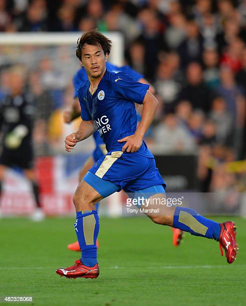 Shinji Okazaki of Leicester City during the Pre Season Friendly match between Burton Albion and Leicester City at Pirelli Stadium on July 28 2015 in...
