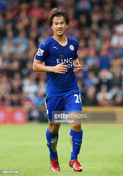 Shinji Okazaki of Leicester City in action during the Barclays Premier League match between AFC Bournemouth and Leicester City at Vitality Stadium on...