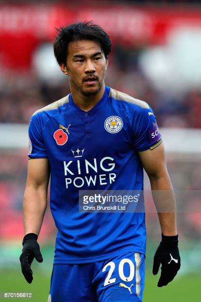 Shinji Okazaki of Leicester City looks on during the Premier League match between Stoke City and Leicester City at Bet365 Stadium on November 4 2017...