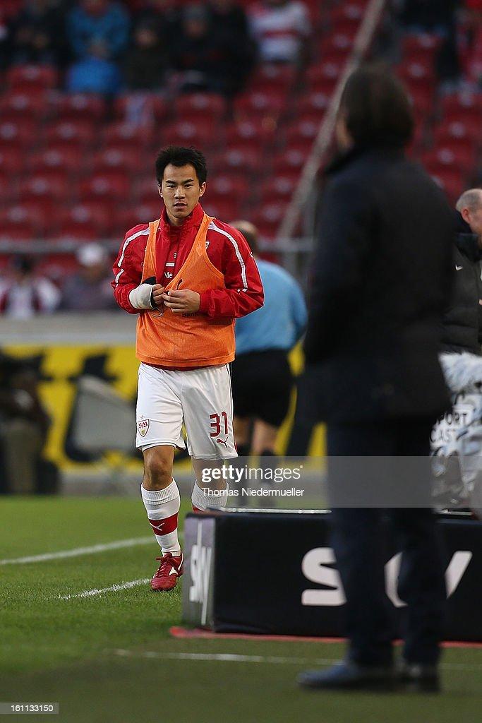 Shinji Okazaki of Stuttgart is seen during the Bundesliga match between VfB Stuttgart and Werder Bremen at Mercedes-Benz Arena on February 9, 2013 in Stuttgart, Germany.