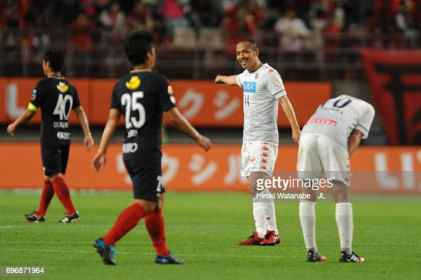 Shinji Ono of Consadole Sapporo gestures during the JLeague J1 match between Kashima Antlers and Consadole Sapporo at Kashima Soccer Stadium on June...
