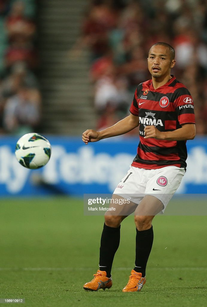 Shinji Ono of the Wanderers in action during the round eight A-League match between the Western Sydney Wanderers and the Melbourne Victory at Parramatta Stadium on November 24, 2012 in Sydney, Australia.