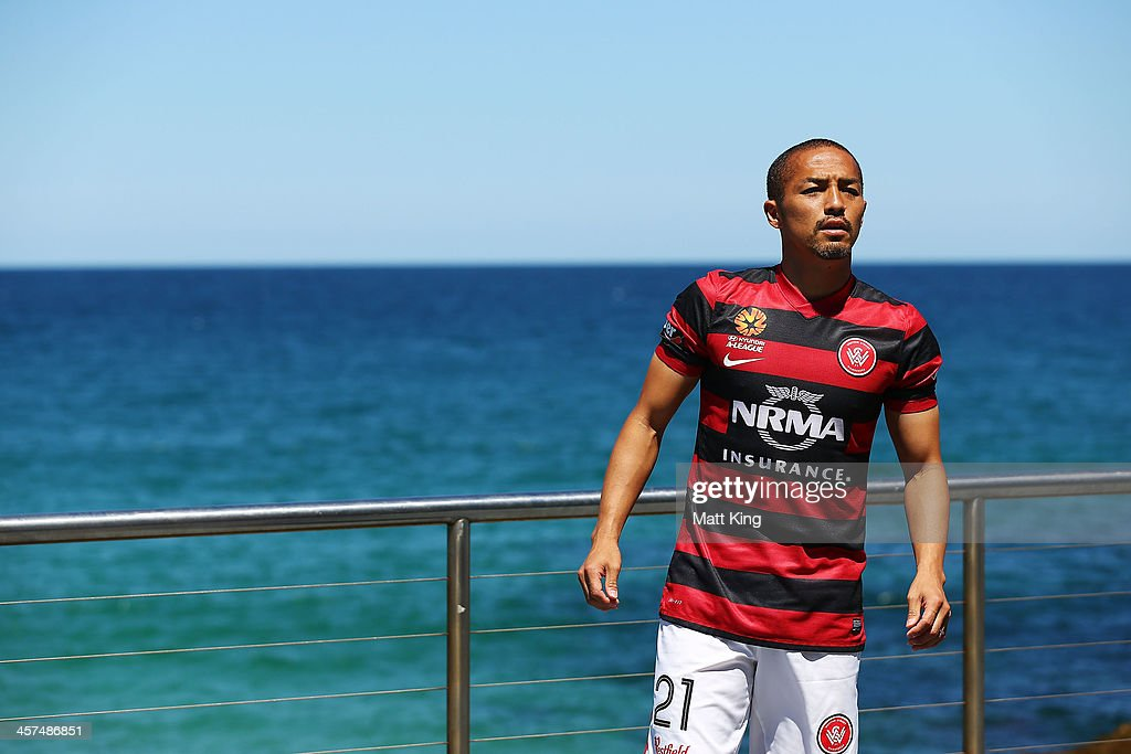<a gi-track='captionPersonalityLinkClicked' href=/galleries/search?phrase=Shinji+Ono&family=editorial&specificpeople=550970 ng-click='$event.stopPropagation()'>Shinji Ono</a> of the Western Sydney Wanderers attends the launch of the A-League's Summer of Football at Bondi Icebergs on December 18, 2013 in Sydney, Australia.