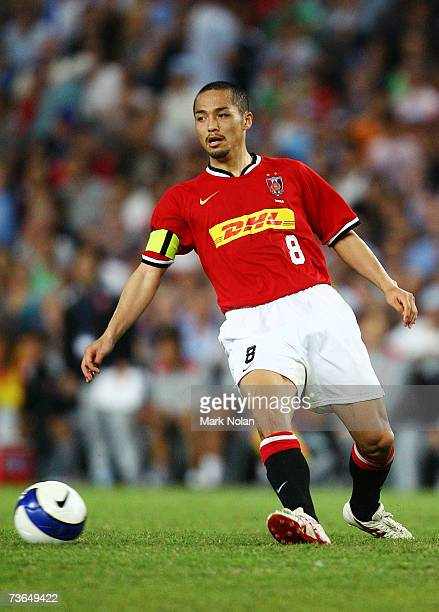 Shinji Ono of Urawa in action during the Asian Champions League match between Sydney FC and the Urawa Reds at Aussie Stadium March 21 2007 in Sydney...