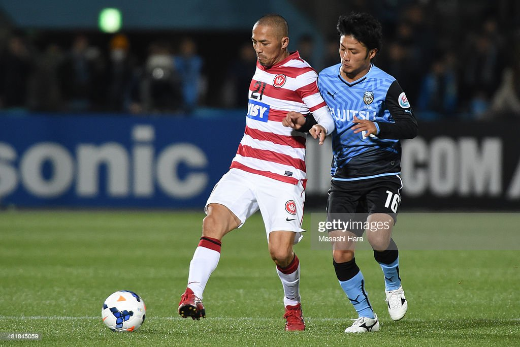 Shinji Ono #21 of Western Sydney Wanderers in action during the AFC Champions League Group H match between Kawasaki Frontale and Western Sydney Wanderers at Todoroki Stadium on April 1, 2014 in Kawasaki, Japan.