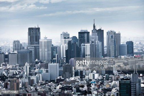 El horizonte de Shinjuku, Tokio, Japón