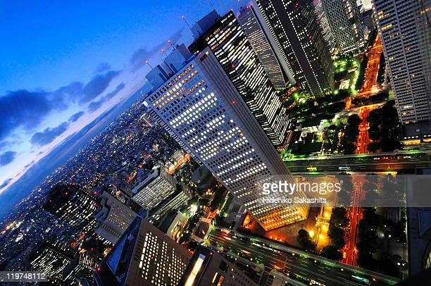 Shinjuku skyscrapers at sunset