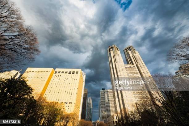 Shinjuku Skyscrapers on a Cloudy Day