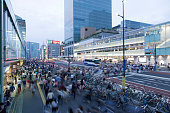 Shinjuku station south side exit.