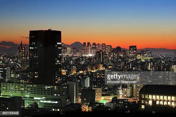 Shinjuku Sunset with Mt. Fuji