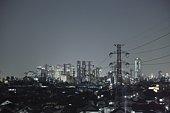 Shinjuku Ward at night, Tokyo, Japan