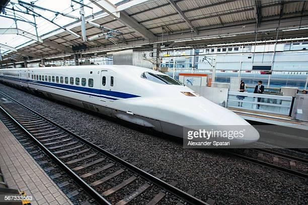 Shinkansen (high speed train) at Kyoto Station