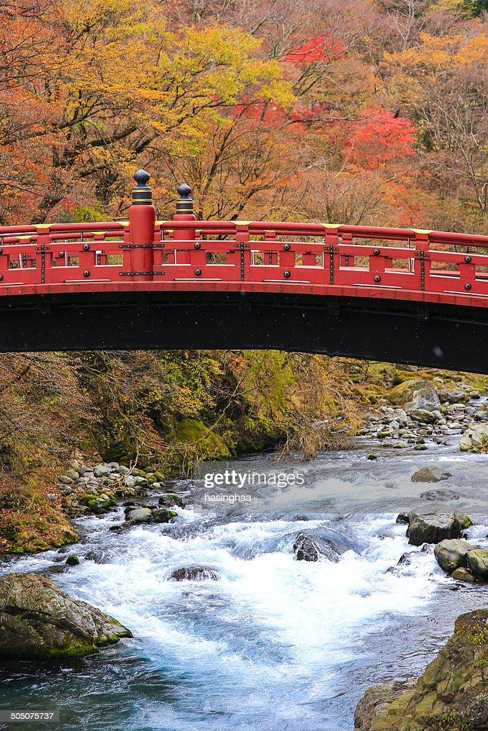 Shinkyo Bridge with fall season. Nikko. Japan