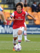 Shinobu Ohno of Arsenal Ladies during the match between Arsenal Ladies and Birmingham City Ladies in the UEFA Womens Champions League at The Hive on...