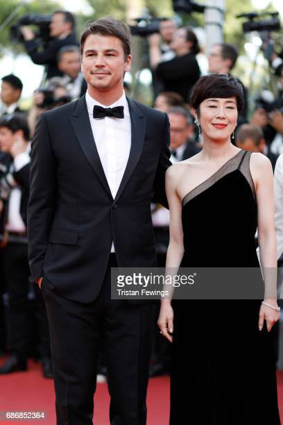 Shinobu Terajima and Josh Hartnett of 'Oh Lucy' attend 'The Killing Of A Sacred Deer' premiere during the 70th annual Cannes Film Festival at Palais...